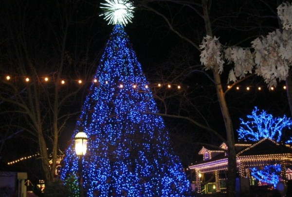 Braley family at silver dollar city fixed silver dollar christmas tree